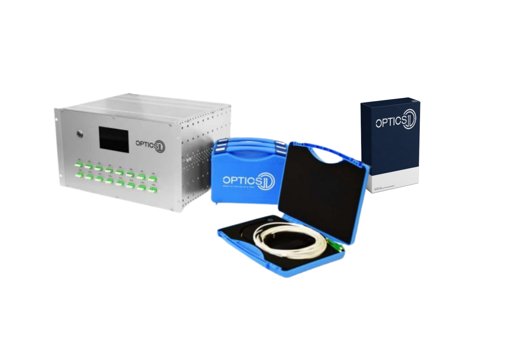 OptimAE PD monitoring system consists of an acquisition unit, AE fiber optic sensors and a dedicated software